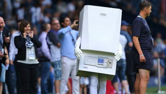 La mascota fue abucheada en el estadio inglés. (Foto: West Bromwich Albion)