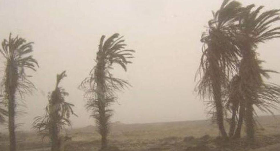 Senamhi prevé ocurrencia de fuertes vientos en la costa de Arequipa
