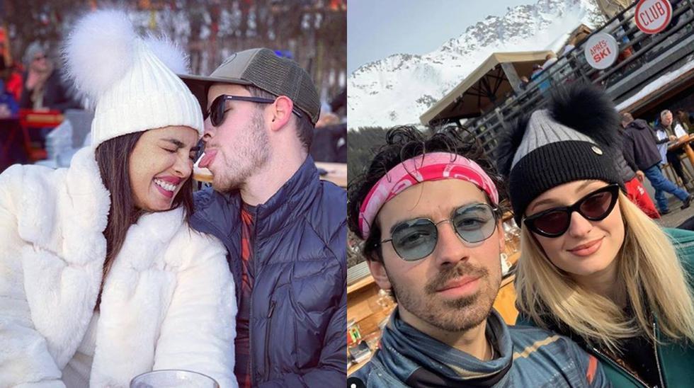 Priyanka Chopra, Nick Jonas, Sophie Turner y Joe Jonass se encuentran en Suiza. (Foto: Instagram)