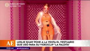 """Leslie Shaw pone en venta del vestuario que lució en el video de """"La faldita"""""""