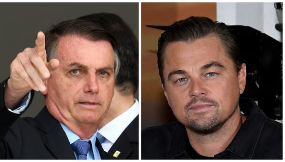 """Jair Bolsonaro dijo que """"alguien saca una foto (de las llamas), se la envía a una ONG, la ONG contacta a Leonardo DiCaprio y él dona 500.000 dólares"""". (Foto: AFP/Archivo)."""