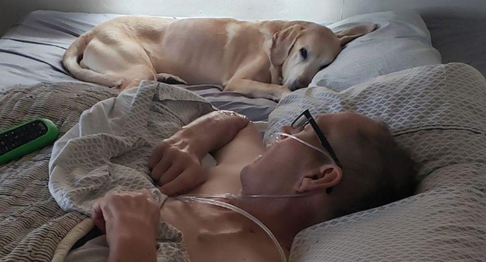 El hombre tenía una relación de amistad con su perro. Hasta el último momento pararon juntos. (Facebook: Heather Nicoletti)