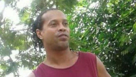 Ronaldinho, en prisión. (Foto: @Futgol970py)