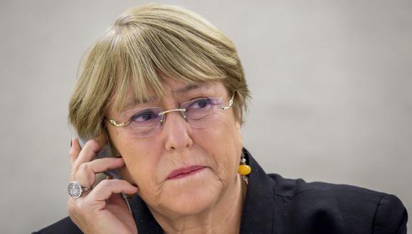 """Michelle Bachelet también lamentó que en """"la mayoría de estas protestas"""" la respuesta inicial se centrase en la acción policial. (Foto: Archivo/ AFP)."""