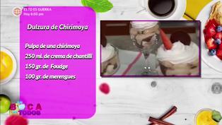Tres minutos de dulzura: aprenda a preparar dulzura de chirimoya