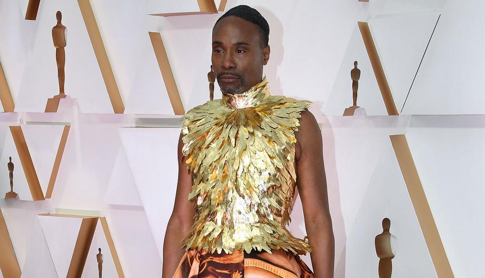 Oscars 2020: Billy Porter sorprendió con su extravagante vestido durante la alfombra roja. (Foto: AFP)