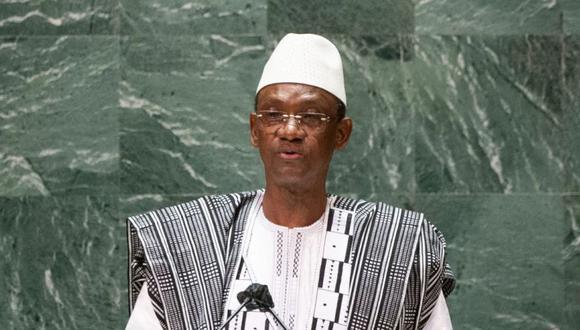 El primer ministro de Malí, Choguel Maiga, se dirige a la 76a sesión de la Asamblea General de las Naciones Unidas en la sede de la ONU en Nueva York. (Foto: KENA BETANCUR / POOL / AFP).