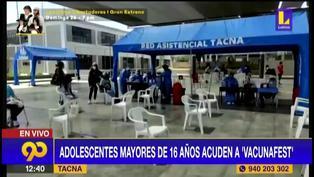 Tacna: Menores de 14 a 17 años acudieron a vacunarse contra la COVID-19