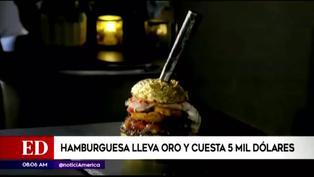 Golden Boy: hamburguesa cuesta 5 mil dólares y lleva láminas de oro