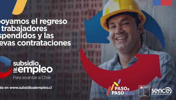 Estado de Chile implementó un beneficio para los trabajadores que fueron contratados en plena emergencia sanitaria por la COVID-19. (Foto: Sence)
