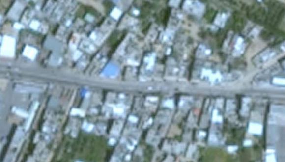 Las imágenes de Gaza que ofrece Google Earth son de baja resolución. (Google).