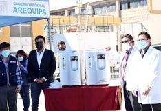 Arequipa: 190 concentradores de oxígeno y 5.000 kits de mascarillas fueron entregados para lucha contra el COVID-19