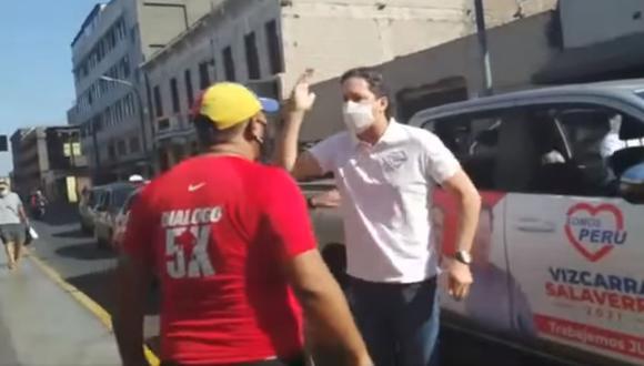 Daniel Salaverry protagonizó incidente este jueves (Captura de pantalla)