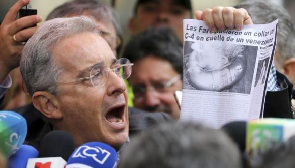 "Uribe pide ""acuerdo ya"" con modificaciones para paz con FARC"