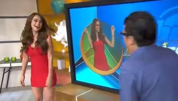 Yanet García, 'La chica del clima', reaccionó así a piropos durante transmisión en vivo
