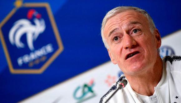 """""""Creo que un francés lo habría merecido. No solo por haber ganado el Mundial, también por la temporada que han hecho"""", dijo Didier Deschamps en conferencia de prensa. (Foto: AFP)"""
