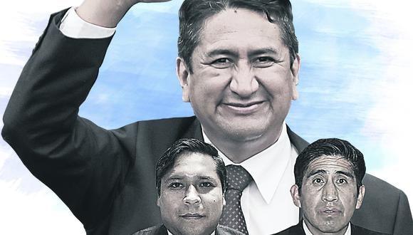 Según la fiscal anticorrupción Bonnie Bautista Vladimir Cerrón, Eduardo Bendezú y Arturo Cárdenas serian los principales sospechosos de liderar la organización criminal 'Los Dinámicos del Centro'. (Imagen: GEC)