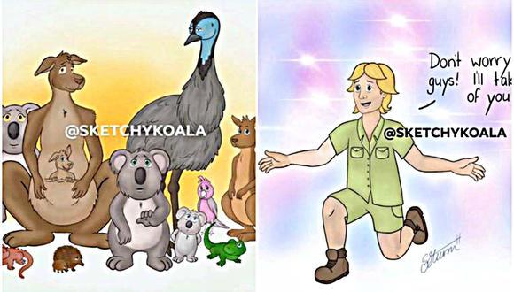 El dibujo, realizado por la artista australiana Sharnia-Mae Sturm, acumula miles de 'me gusta' en redes sociales. (Foto: Facebook/Sketchy Koala)