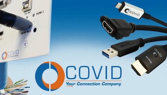 Covid Inc., la compañía que vende cables de conexión audiovisual en plena pandemia del coronavirus. (Foto: Covid Inc. AZ)