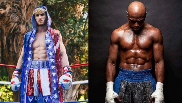 Este 20 de febrero, Logan Paul ( izq.) se enfrentará en una pelea de exhibición  al excampeón mundial de boxeo el estadounidense Floyd Mayweather, Jr.  (Fotos: Instagram @loganpaul y @floydmayweather / Composición: El Comercio)