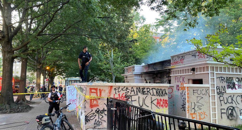 Así amaneció Washington tras las violentas protestas por George Floyd. Foto: AFP / Daniel SLIM