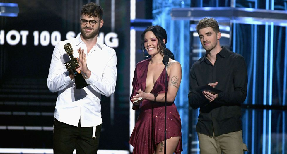 The Chainsmokers, ganadores del premio Top artista dance/ electrónica. (Foto: AFP)