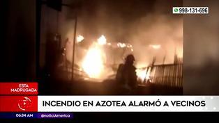 Incendio en azotea alarmó a vecinos de San Luis