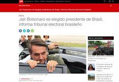 Así informa la prensa mundial sobre la victoria de Bolsonaro en Brasil | FOTOS