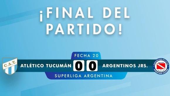 Atlético Tucumán igualó sin goles frente a Argentinos Juniors por la Superliga Argentina. | Foto: Atlético Tucumán