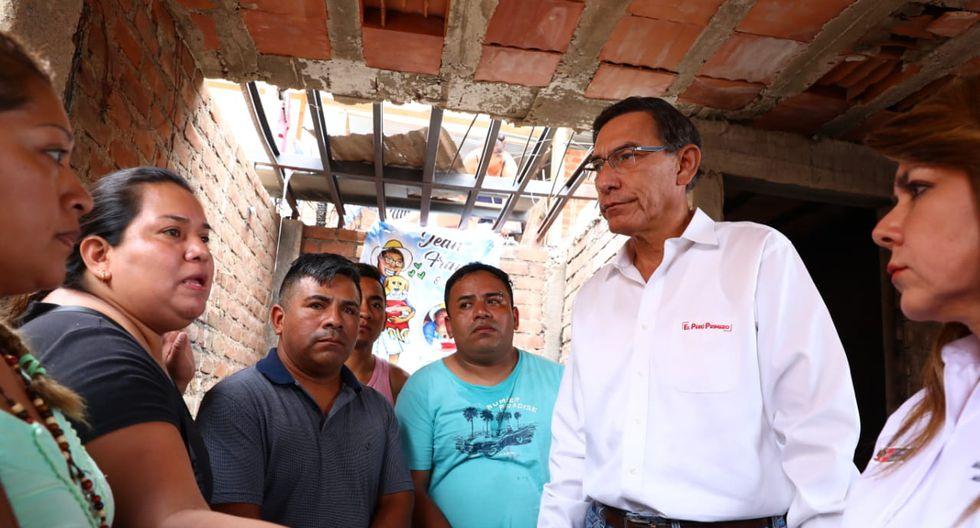 El presidente de la República supervisó este lunes las acciones del Ejecutivo en Villa El Salvador. (Foto: Alessandro Currarino / GEC)