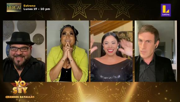 """Los miembros del jurado de """"Yo Soy"""" comentaron sobre la participación de los concursantes desde sus hogares. (Foto: Captura Latina)"""