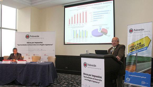 Cajamarca lanzó proyectos bajo esquema OxI por S/.250 millones