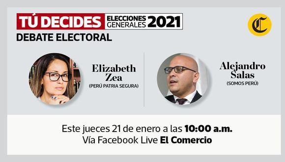 #TúDecides El Comercio continúa el debate de candidatos al Congreso