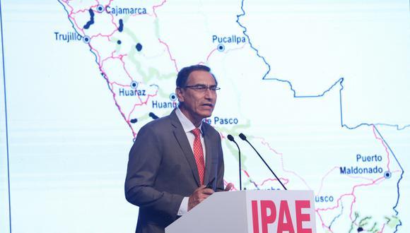 El presidente Martín Vizcarra en CADE Ejecutivos 2018. (Foto: IPAE)