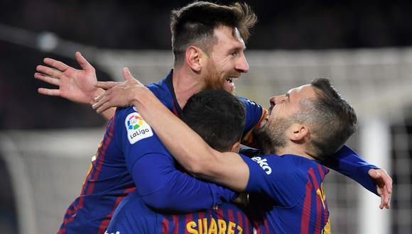 Barcelona, con golazo de Messi, venció 6-1 al Sevilla y clasificó a semifinales de la Copa del Rey. (Foto: AFP)