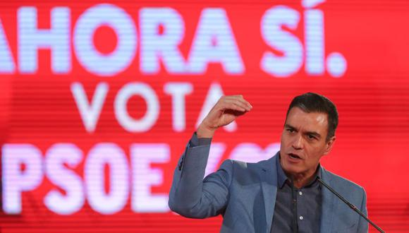El presidente del gobierno saliente de España y líder socialista, Pedro Sánchez. (Foto: Reuters)
