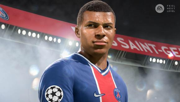 Mbappé en FIFA 21. (Difusión)