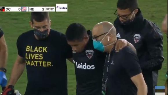 Edison Flores salió a los 58' del duelo entre DC United y New England Revolution. (Captura: MLS)