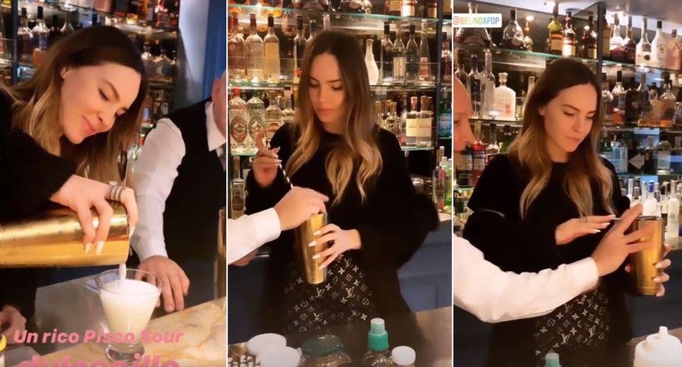 Belinda preparando pisco sour en Lima. (Fuente: Instagram)