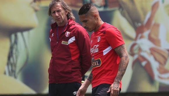 El entrenador de la selección peruana Ricardo Gareca se refirió a la sanción que le impide contar con Paolo Guerrero y el difícil momento que vive el delantero. (Foto: USI)