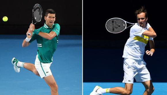 Djokovic y Medvédev definirán al campeón del Australian Open 2021. (Foto: AFP)