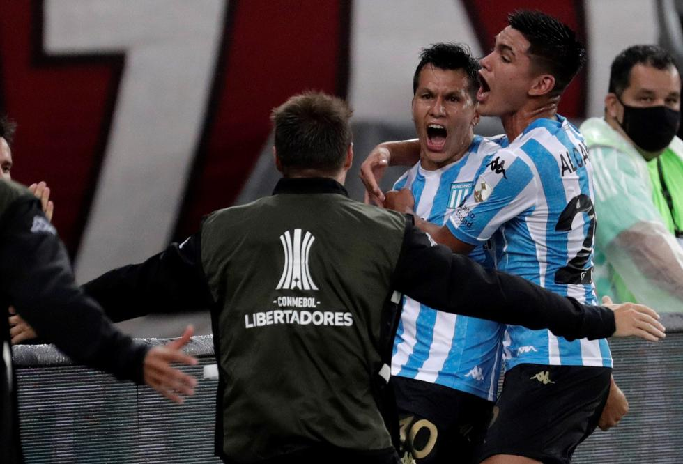 Racing enfrentó a Flamengo por la Copa Libertadores