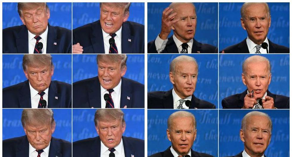 Donald Trump y Joe Biden se enfrentaron el martes en el primer debate televisado de la campaña de este año por la presidencia de Estados Unidos. (Foto: AFP / AFP)