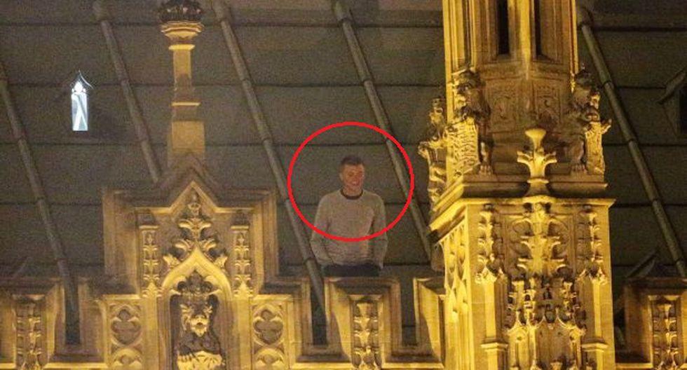 Hombre pasó la noche en techo del Parlamento británico [VIDEO]