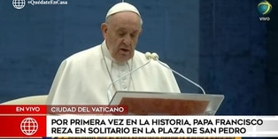 Coronavirus: papa Francisco reza por fin de pandemia y bendice al mundo