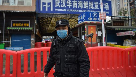 El mercado de animales salvajes de Wuhan, donde se habría originado el coronavirus covid-19. (Hector RETAMAL / AFP).