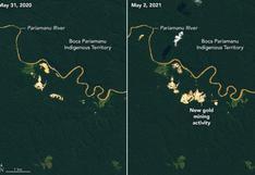 NASA lanza herramienta para rastrear con datos satelitales la minería ilegal en Perú