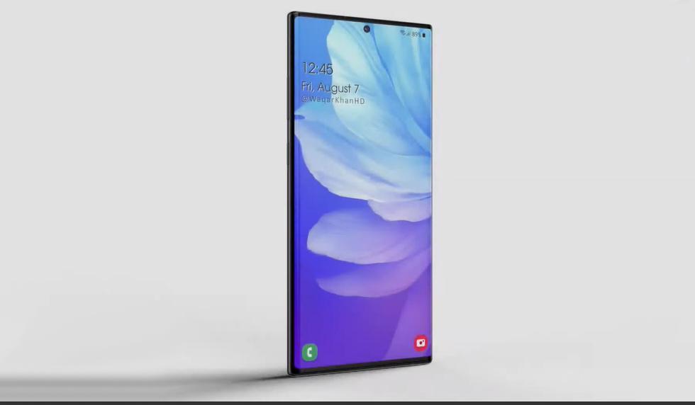De esta forma se vería el Samsung Galaxy Note 20 Plus según un canal de YouTube. (Foto: Waqar Khan)