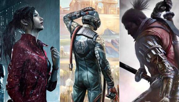 Resident Evil 2 Remake, The Outer Worlds y Sekiro: Shadows Die Twice son alguno de los nominados a la categoría 'Mejor Juego del Año' en 'The Game Awards 2019'. (Foto: Capcom/Obsidian Entertainment/From Software)
