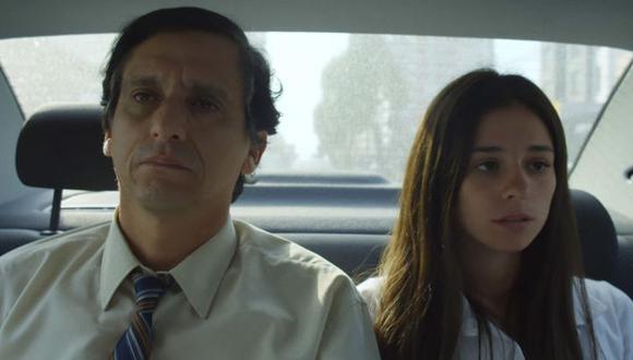 """Miguel Iza y Valquiria Huerta interpretan al oficinista Miguel y a su hija Camila en """"Larga distancia"""". (Foto: Difusión)"""